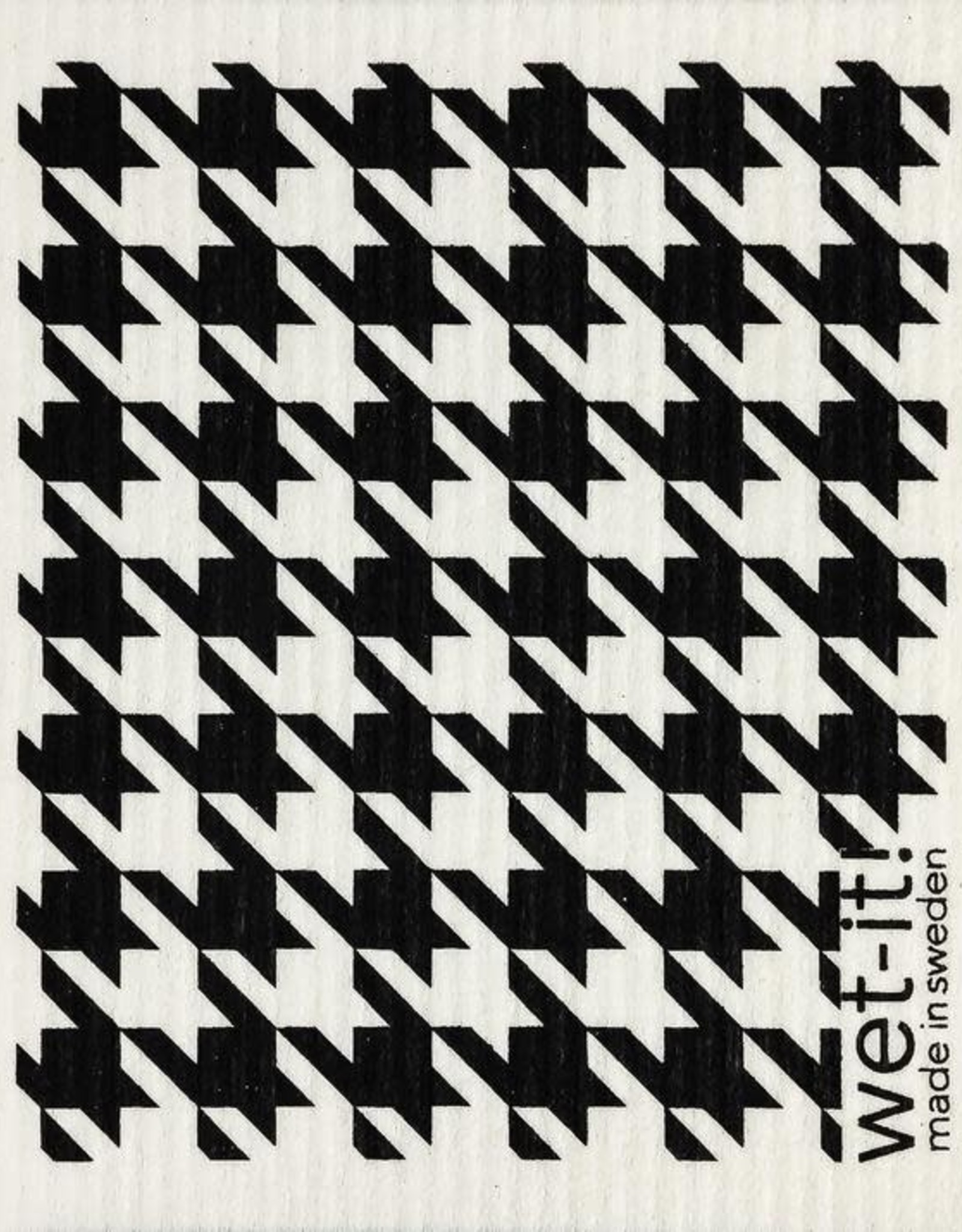 - Black Houndstooth Wet-it Cloth