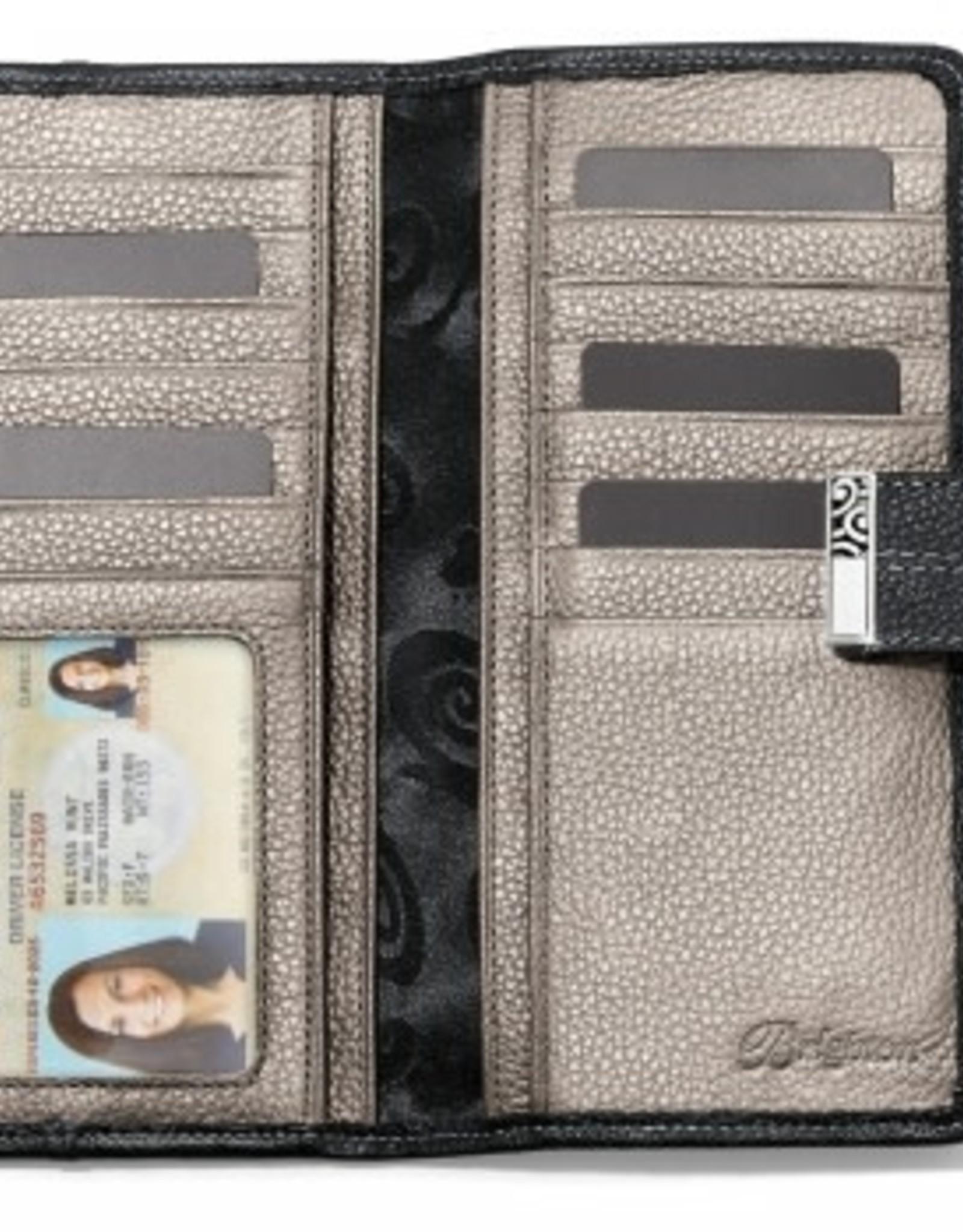 Brighton Black Barbados Large Pocket Wallet