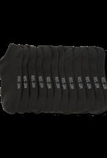 - Solid Black Ankle Socks 6-pack