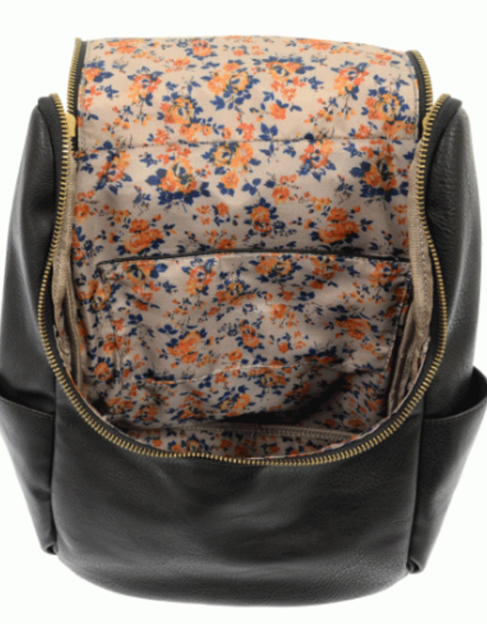 - Black Side Pocket Backpack