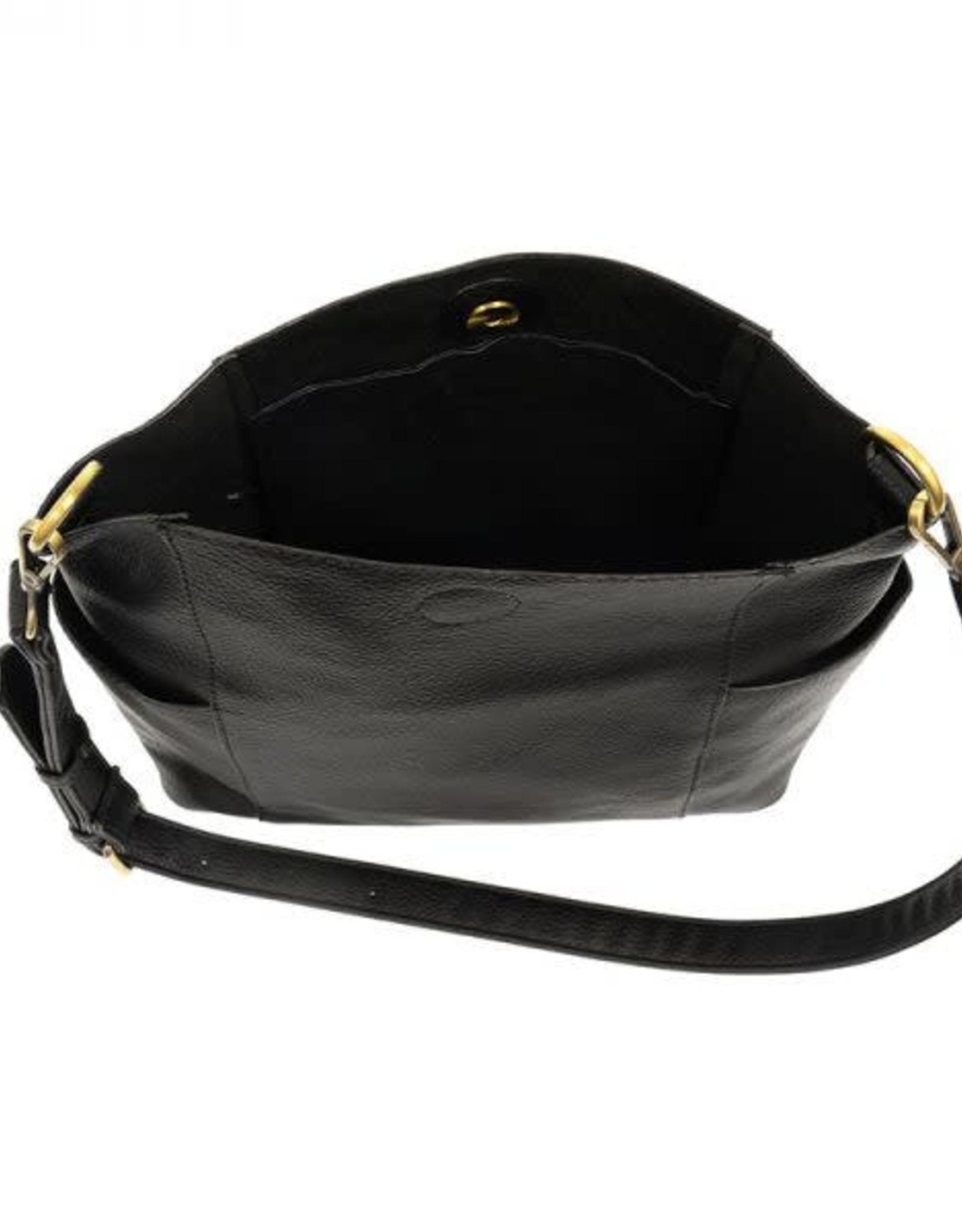 - Black Side Pocket Bucket Bag