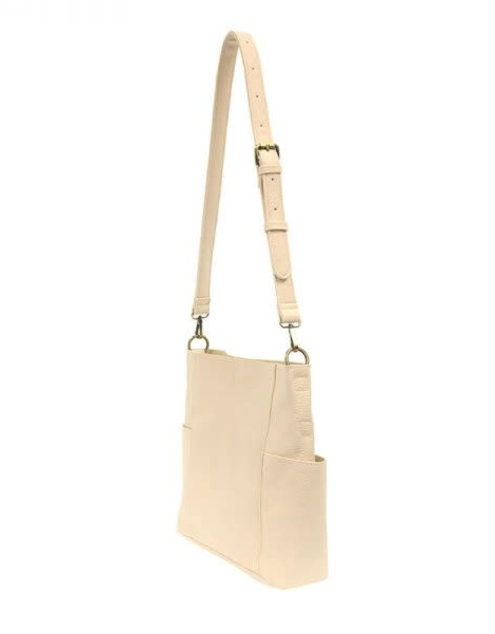 - Cream Side Pocket Bucket Bag