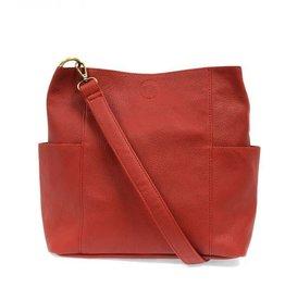 - Red Side Pocket Bucket Bag