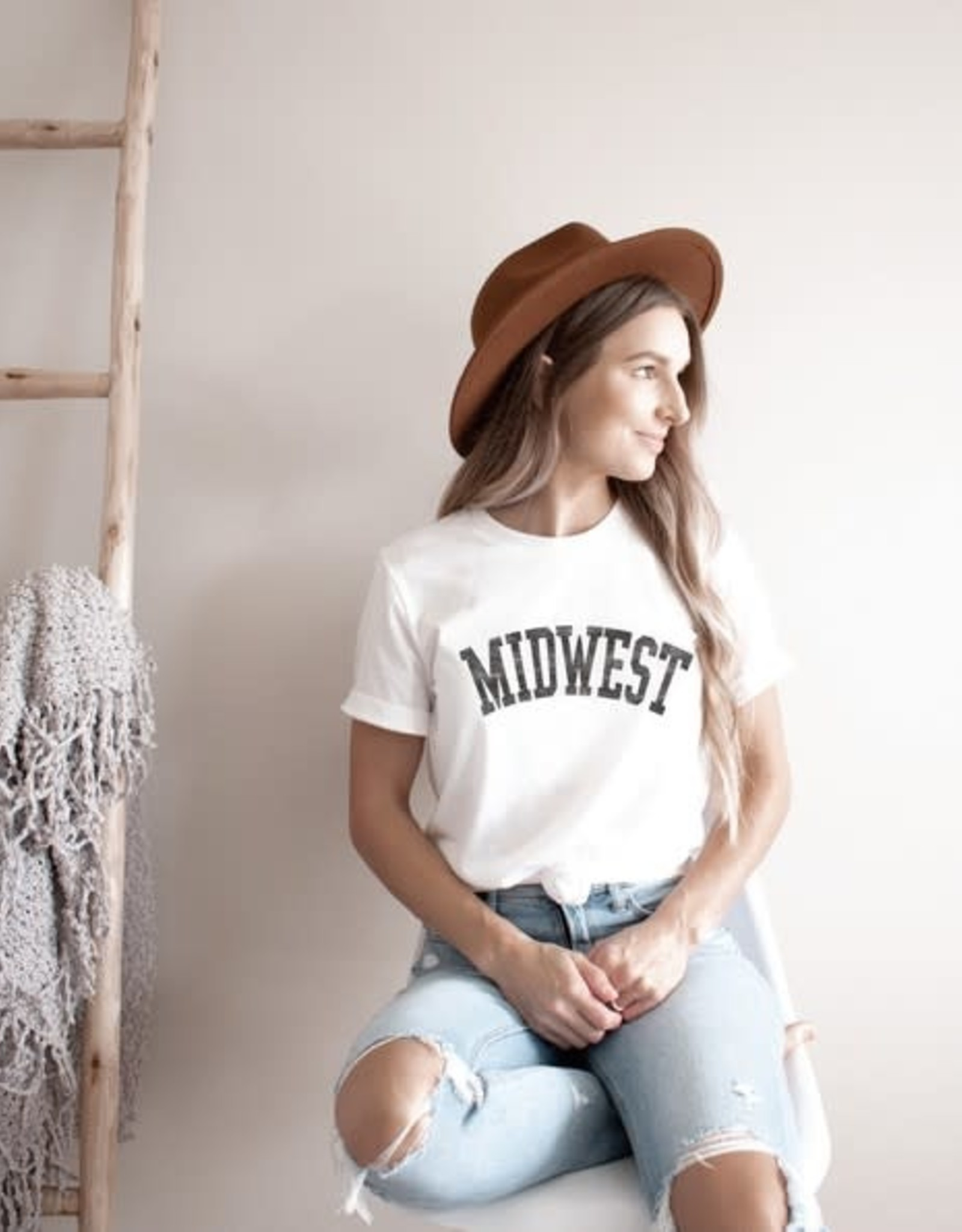 - White MIDWEST Graphic Tee