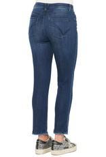 Democracy Medium Wash High Rise Slim Straight Jean