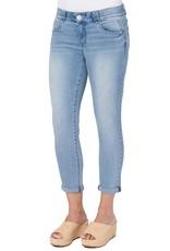Democracy Light Wash High Rise Crop Jean w/Embellished Pockets