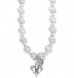 Brighton Ferrara Fleur De Lis Short Necklace