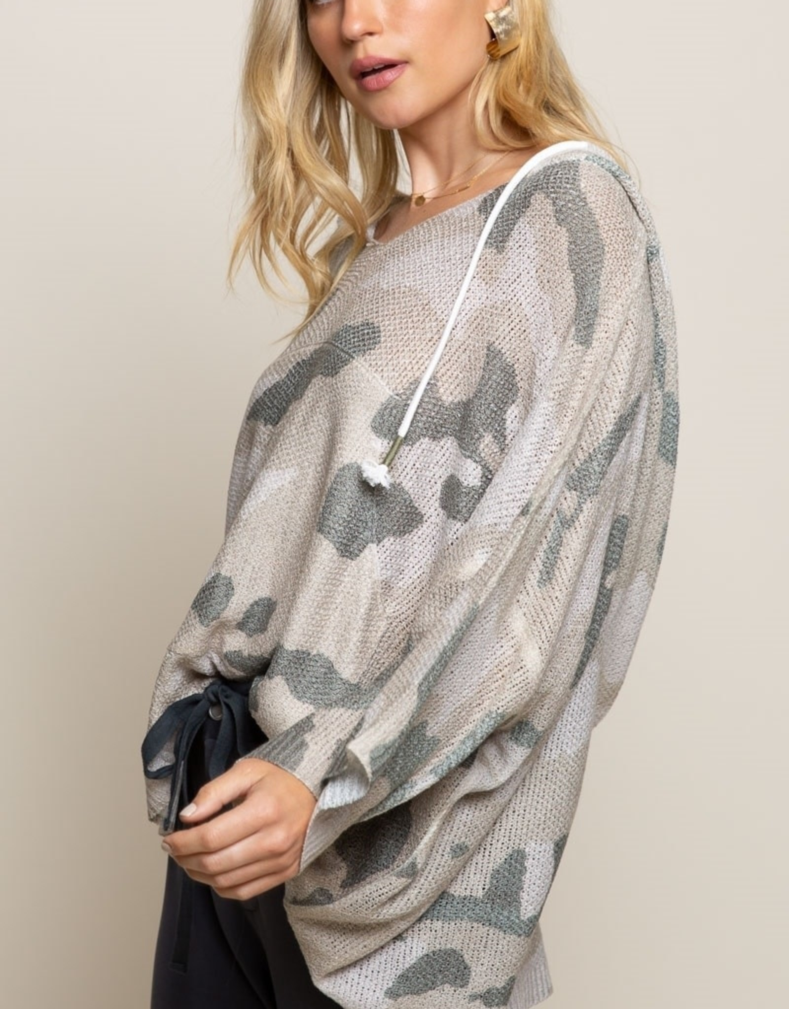 - Camouflage Lightweight Knit Top
