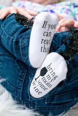 - Bring My Mom Some Wine 0-6mo. Baby Socks