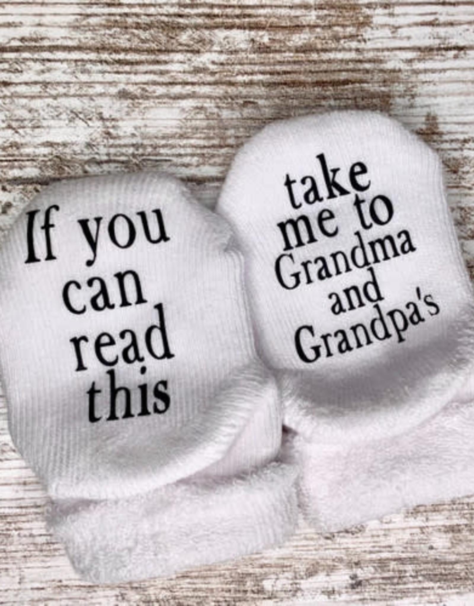 - Take Me to Grandma & Grandpa's 0-6mo. Baby Socks