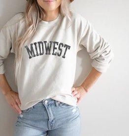 - Heather Dust MIDWEST Crewneck Sweatshirt