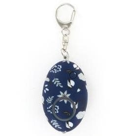 - Navy Floral Mini Alarm