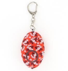 - Orange Floral Print Mini Alarm