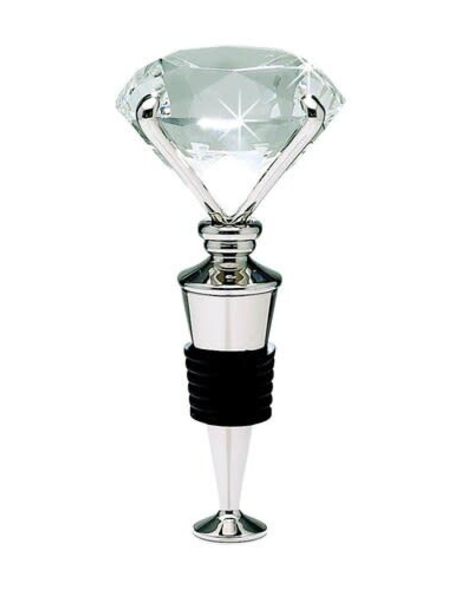 Silver Diamond Wine Stopper