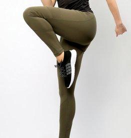 - Olive Athletic Legging w/Side Pockets