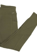 - Olive Athletic Legging w/Side Pockets