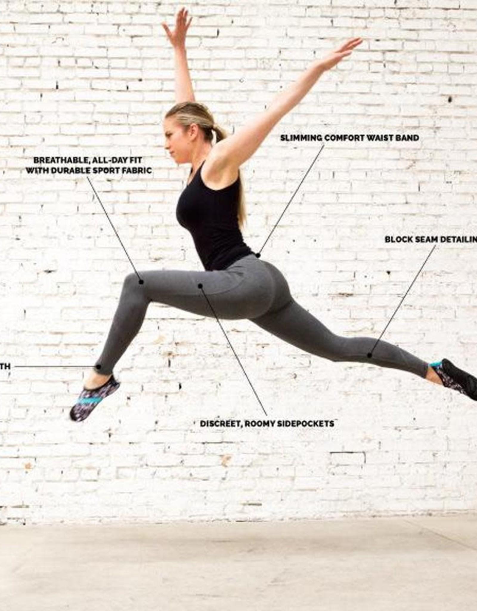 - Grey Athletic Legging w/Side Pockets