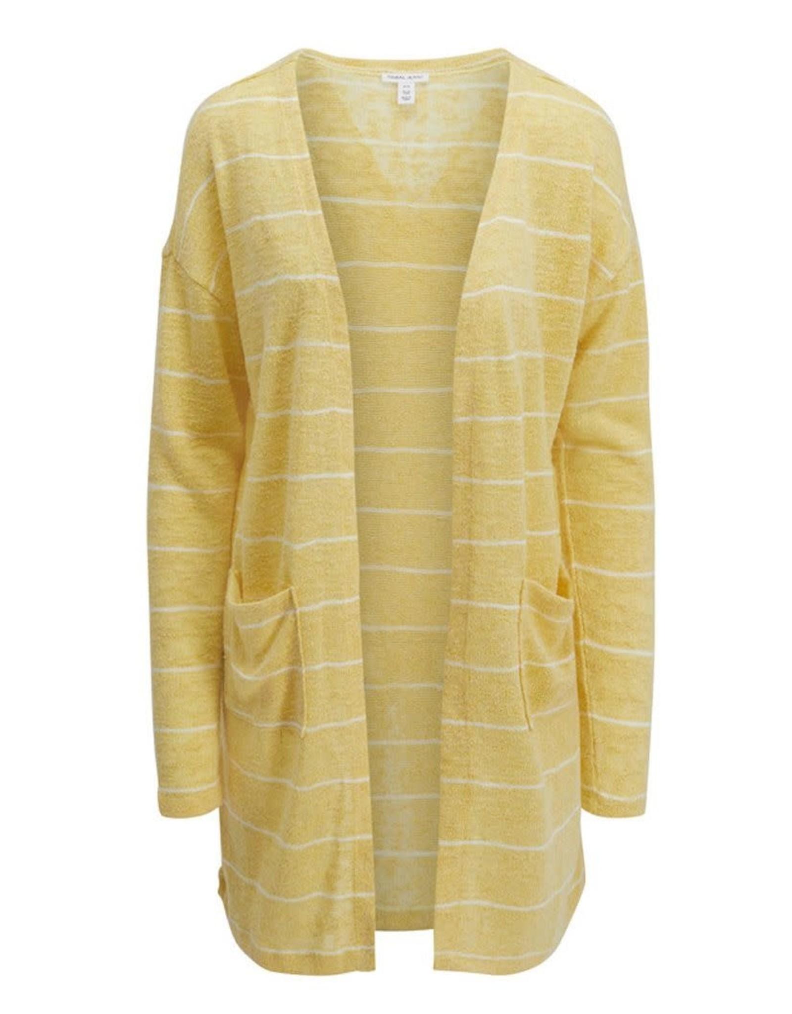 Tribal Yellow Striped Knit Cardigan