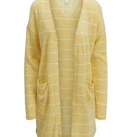 Tribal Yellow Striped Knit Cardigan