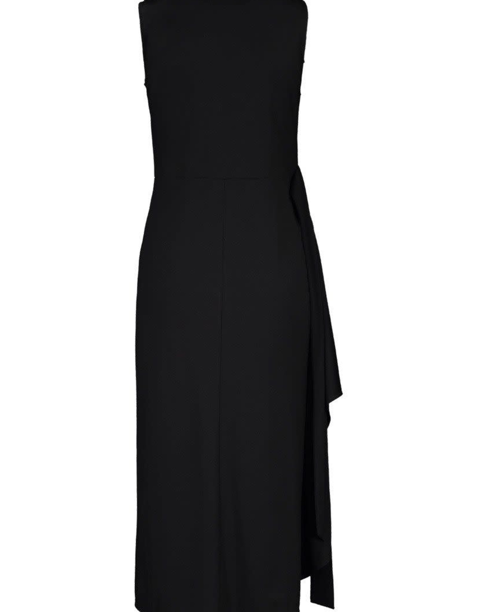 Tribal Black Sleeveless Wrap Dress