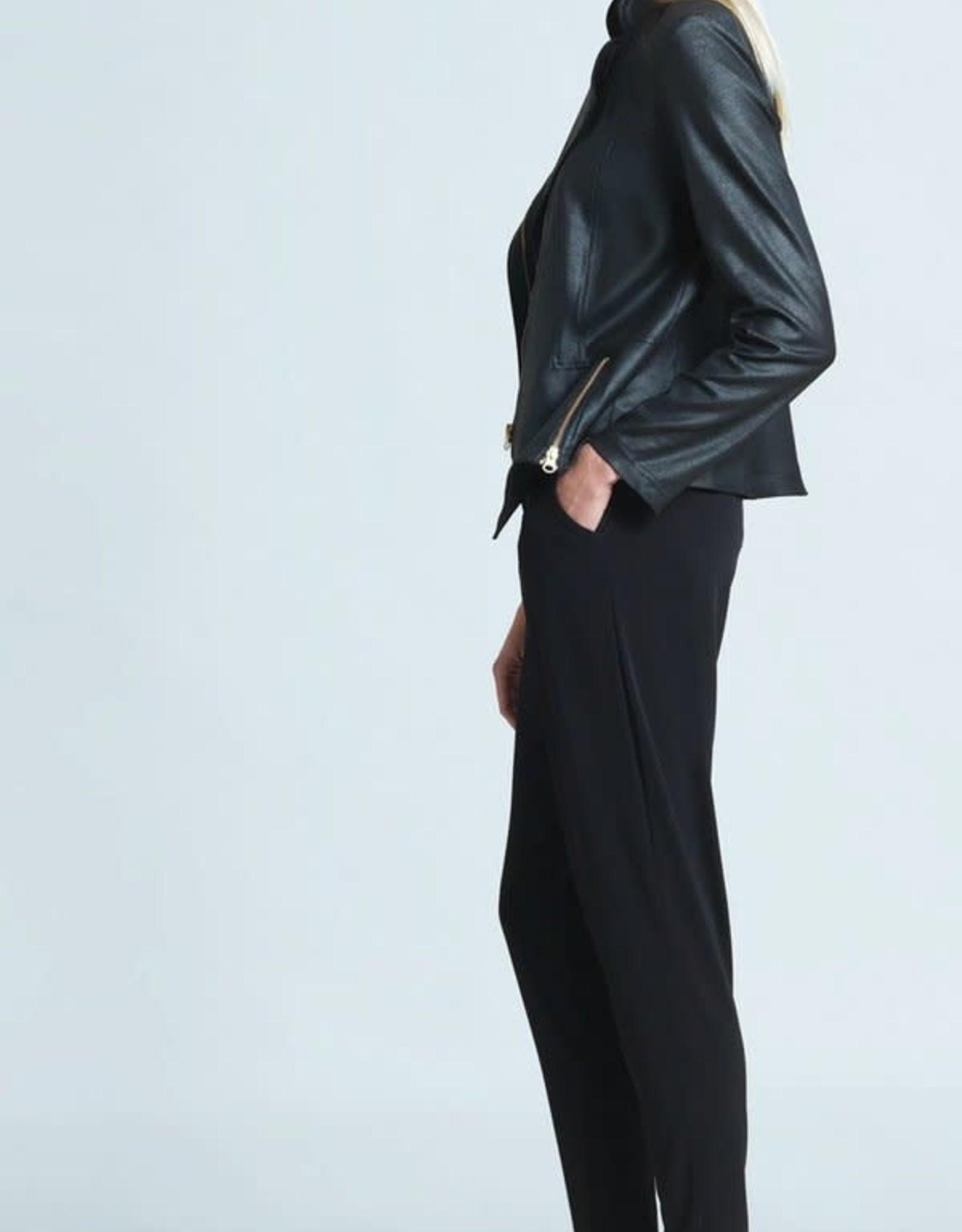 - Black Liquid Leather Jacket