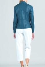 - Peacock Liquid Leather Jacket