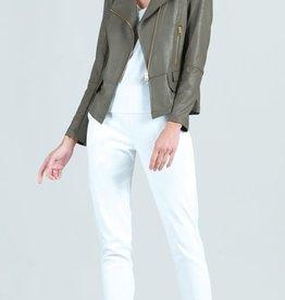 - Olive Liquid Leather Jacket