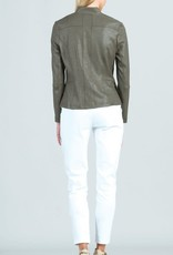 - Olive Liquid Leather Jacket