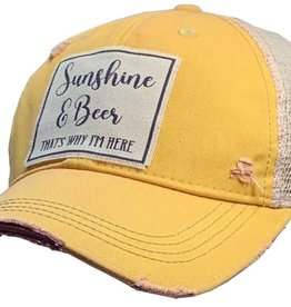- Yellow Sunshine & Beer Baseball Cap