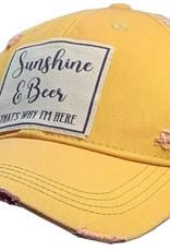 - Yellow Sunshine & Beer Baseball Cap