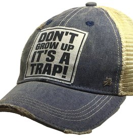 "- Navy ""Don't Grow Up It's A Trap"" Baseball Cap"