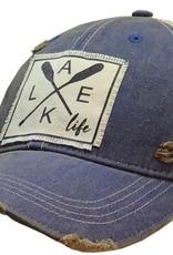 "- Royal Blue ""Lake Life"" Baseball Cap"