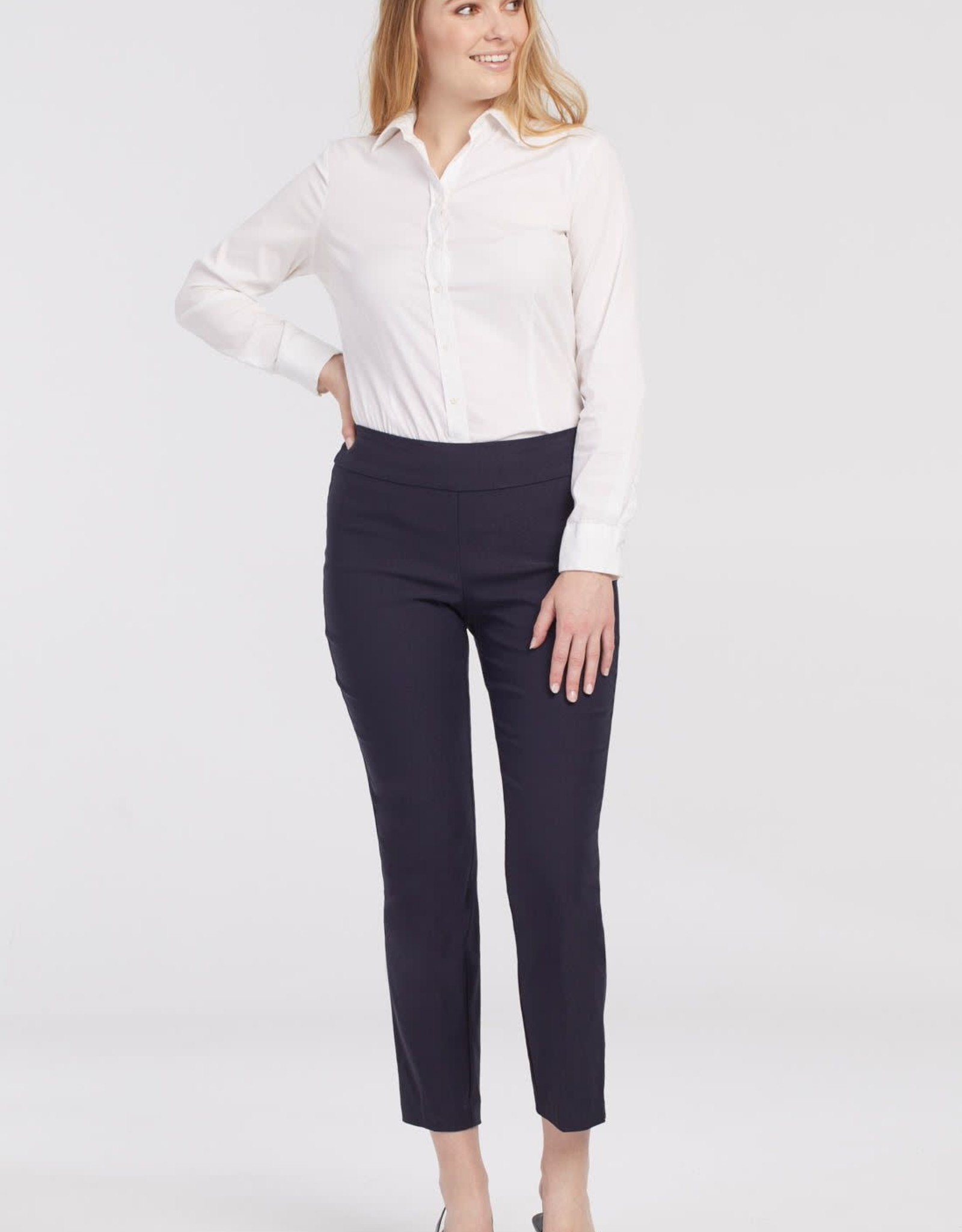 Tribal Navy Pull-On Ankle Pant