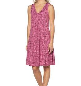 - Heather Pink Tank Dress w/Seaming Detail