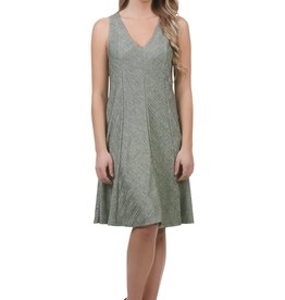 - Green Metallic A-Line Panel Swing Tank Dress