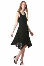 - Black Handkerchief Hem Swing Tank Dress