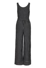 Tribal Black/White Stripe Junpsuit w/Tie Belt