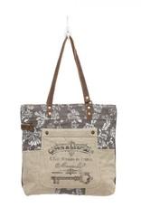 - Old Key Linen Tote Bag