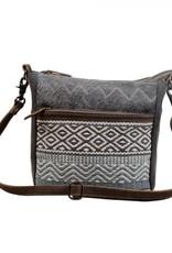 - Chevron Patterned Crossbody Bag