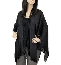 - Black Kimono w/Crochet Border