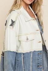 - Cream/Denim Star Jacket