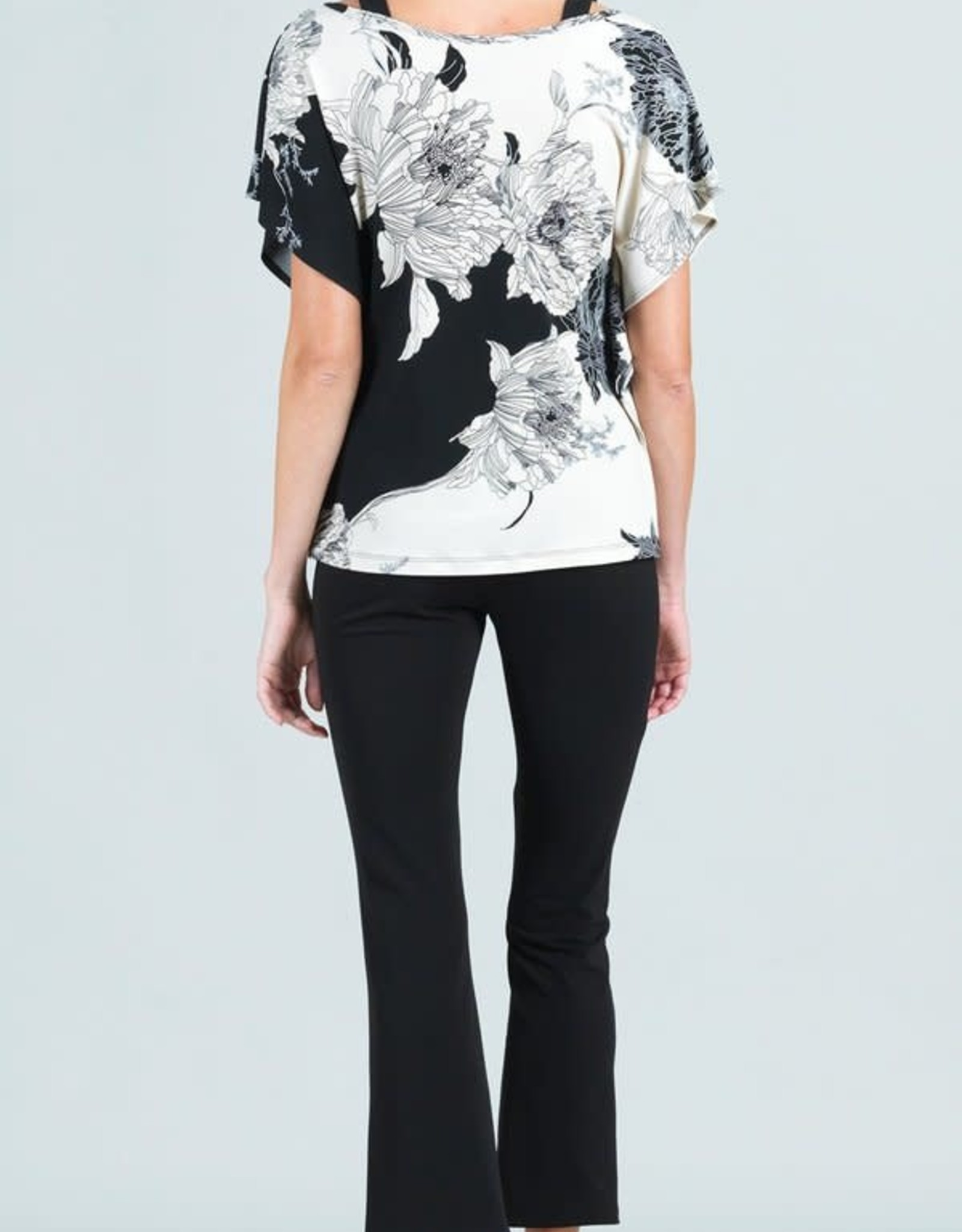 - Black/Ivory Floral Outline w/Butterfly Sleeve