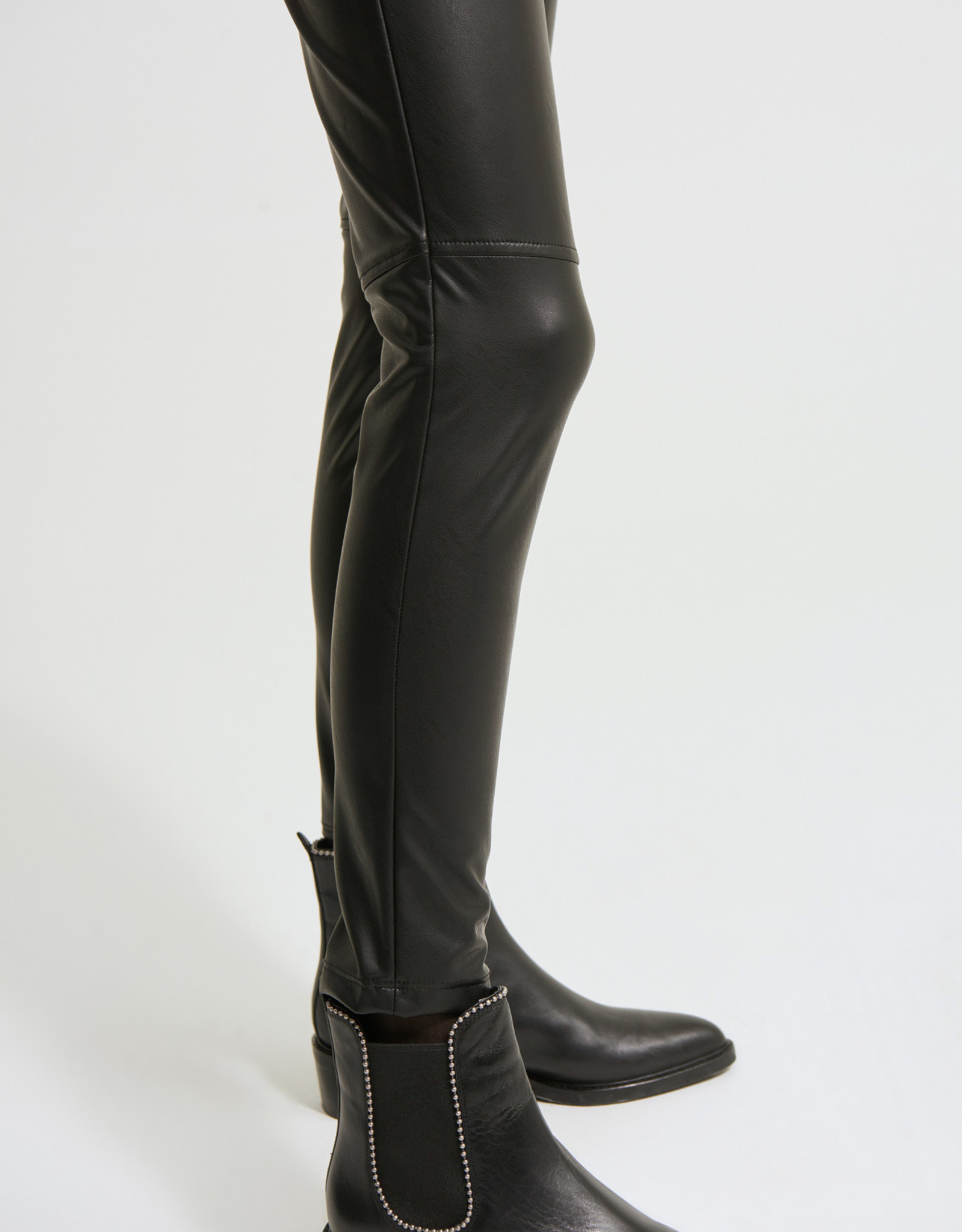 Joseph Ribkoff Black Pull-On Faux Leather Legging