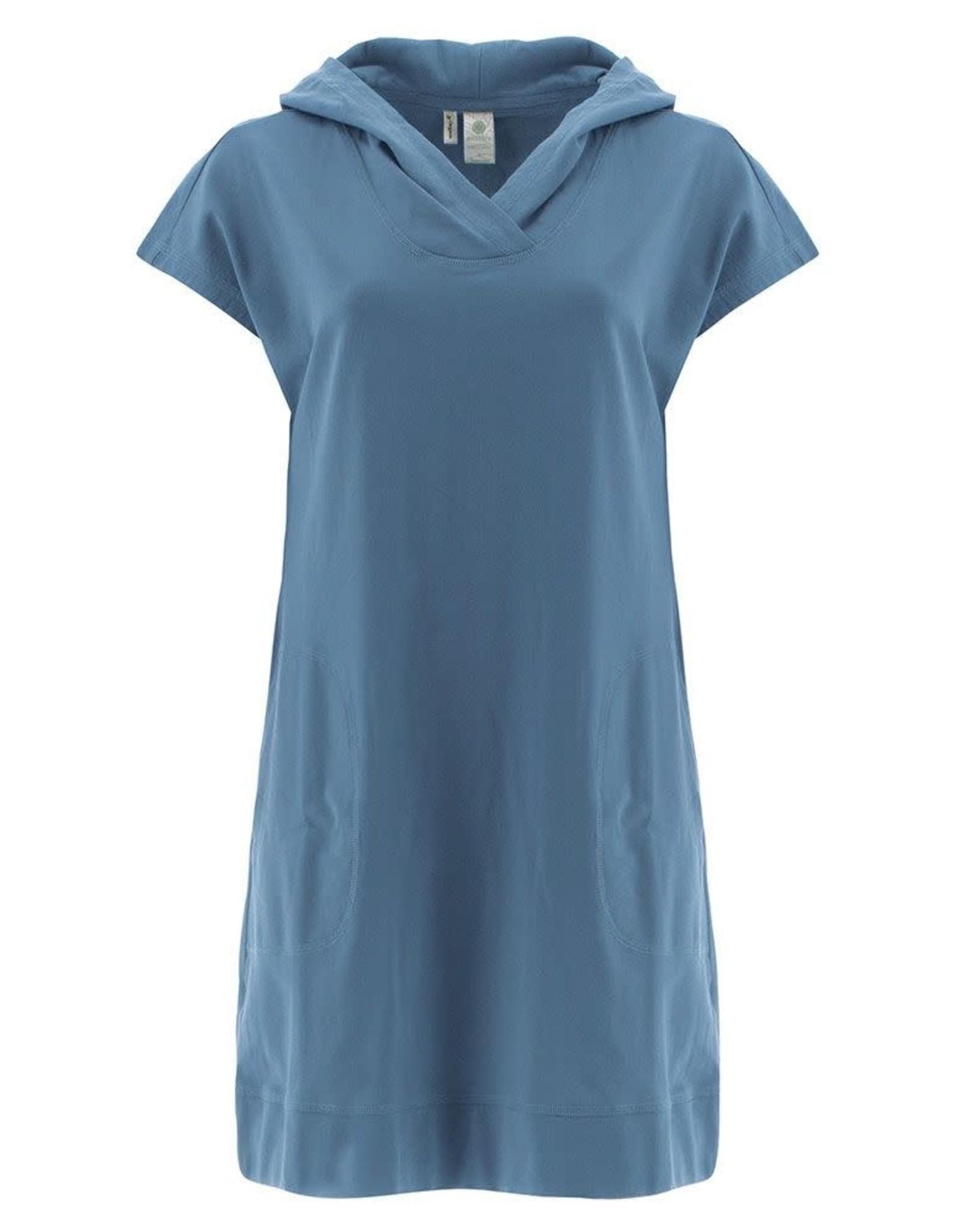 - Blue Hoodie Dress w/Pockets