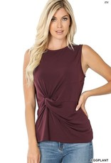 - Eggplant Tank w/Knot Front