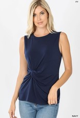 - Navy Tank w/Knot Front