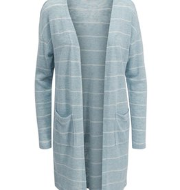 Tribal Sky Blue Striped Knit Cardigan