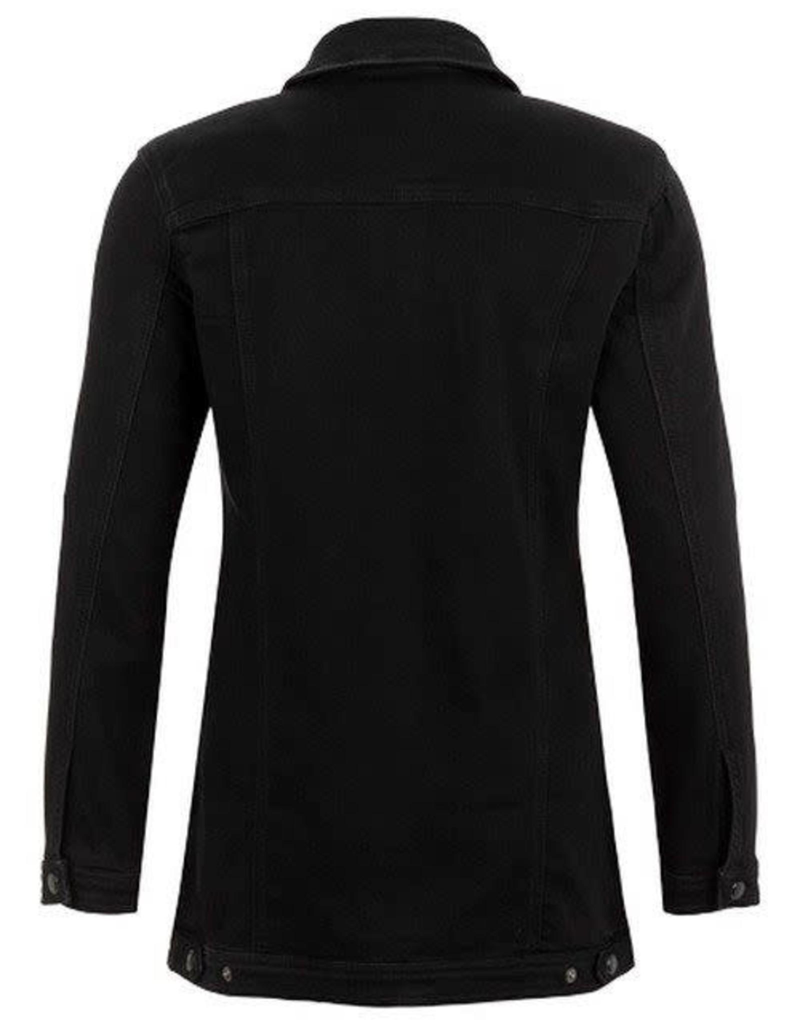 Tribal Black Maxi Denim Jacket