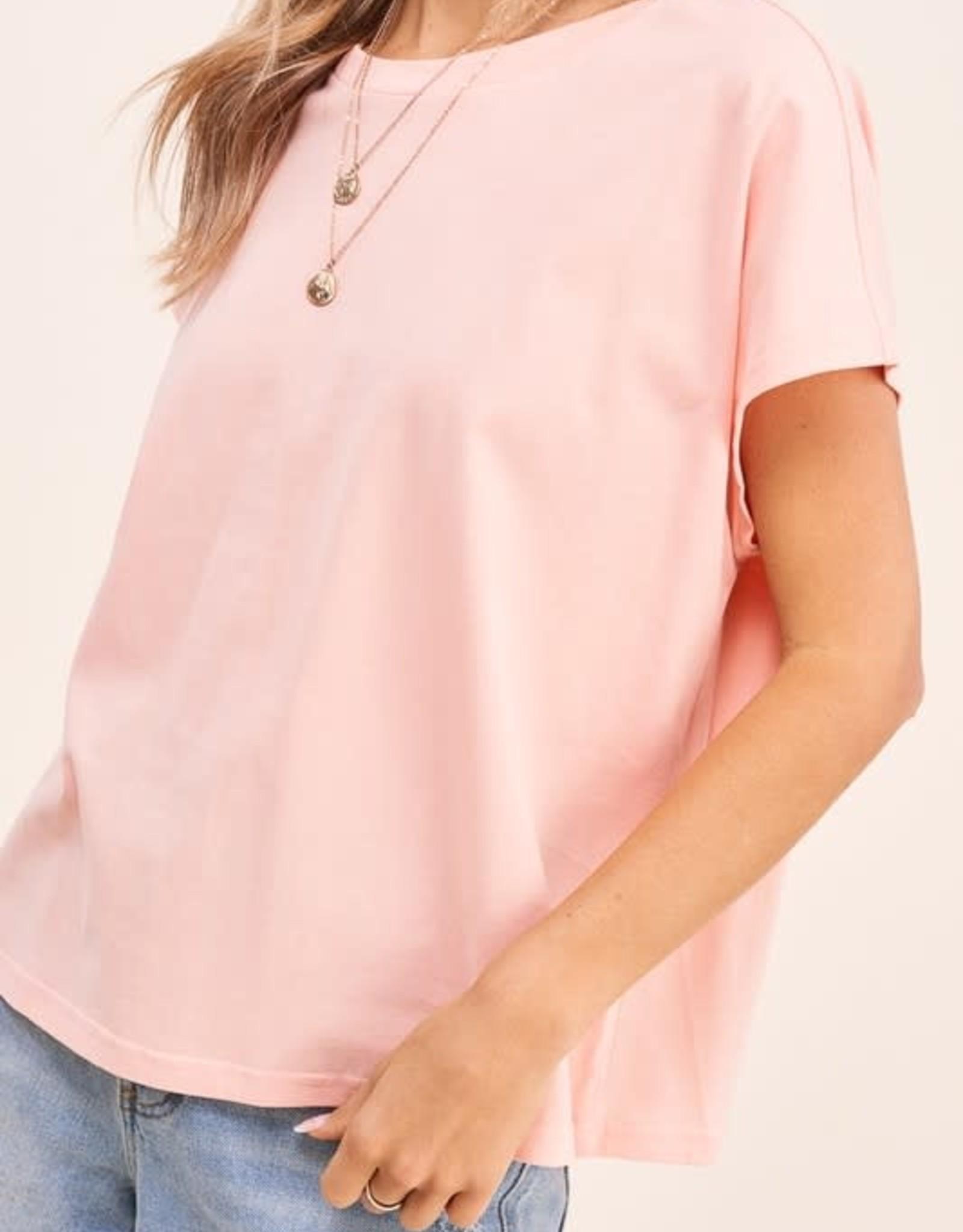 - Coral Dolman Short Sleeve Top
