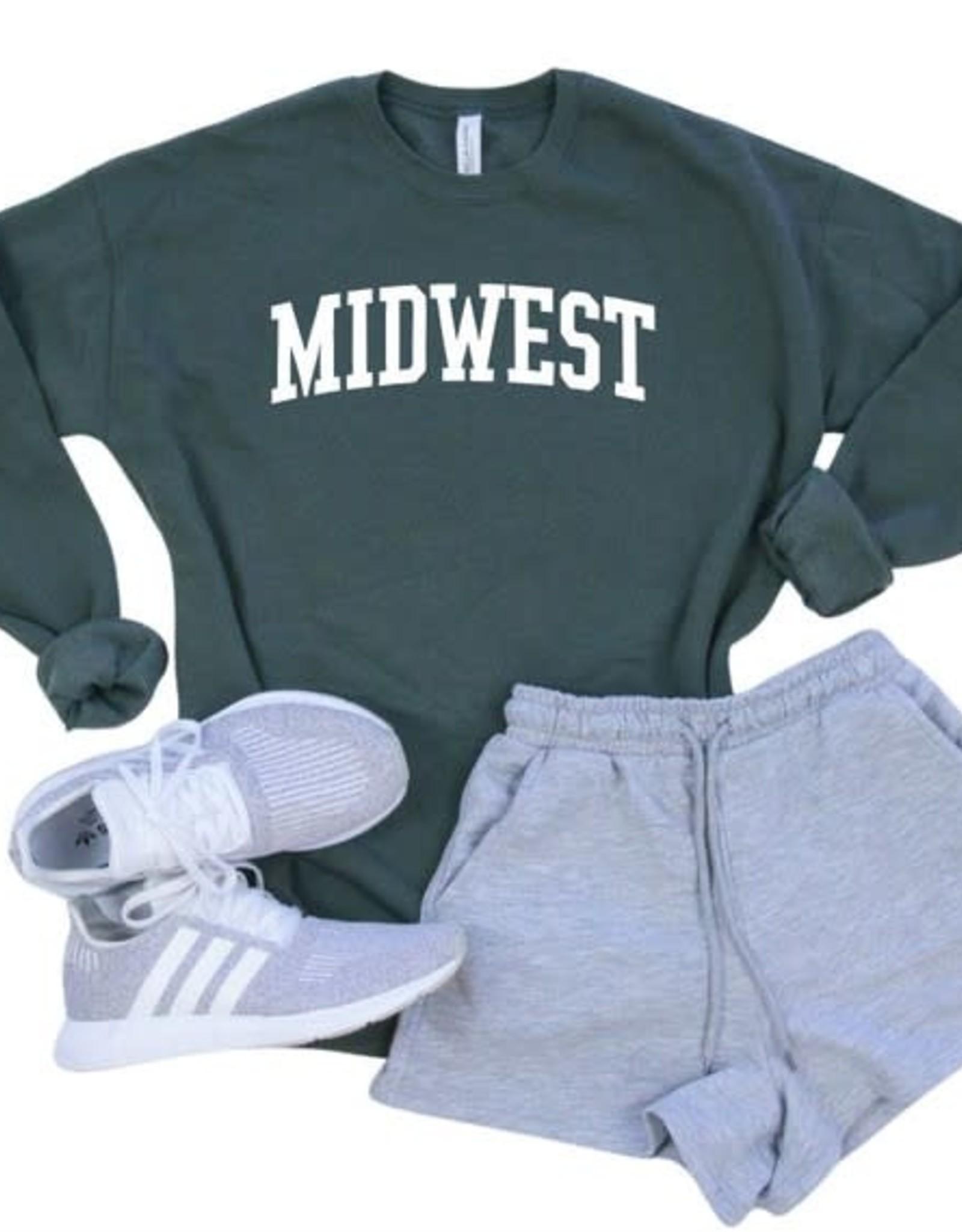 "- Forest Green ""Midwest"" Sweatshirt"